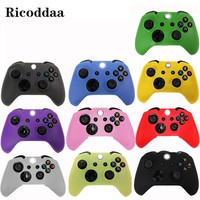 Soft Silicone Case For Xbox One Controller Gamepad Protective Rubber Case Cover For Microsoft Xbox One S Controller Accessories