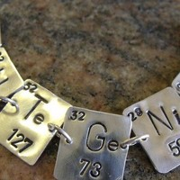 Cute Genius - Periodic Table of Elements Necklace in Sterling Silver