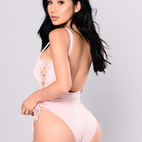 You're Knot Down Swimsuit - Pink