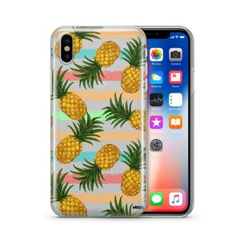 Summertime Pineapple - Clear TPU Case Cover