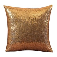 Solid Color Glitter Sequins Throw Pillow Case Cafe Home Decor Wonderful35%2.03