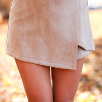 Twig: Can't Stop Me Skort in Taupe