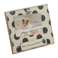 Who Rescued Who Clip Frame, 4x6