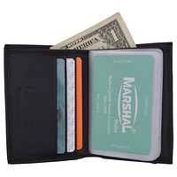 Men's Genuine Leather Multi-Credit Card Holder Wallet W/Protective Band