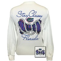 Florida Gators Preppy Stay Classy Pearls Long Sleeve T-Shirt
