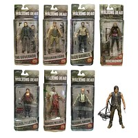 The Walking Dead Abraham Ford, Bungee Walker, Rick Grimes, Daryl Dixon, Michonne, The Governor, Hershel Green, Carol Peletier Action Figure Collectible Model Toy