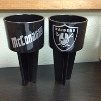 Personalized Spiker Beach Cup holders Raiders Football