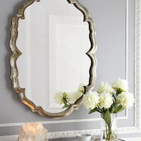 Jamie Young Centerpoint Silver-Tone Scalloped Mirror