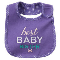 Baby Sister Reversible Teething Bib