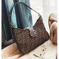 Fendi New fashion letter print shoulder bag handbag women