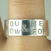 You & ME Now and Forever Love Ring Sterling Silver by Excognito