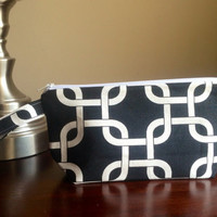 Make up cosmetic bag zipper pouch bridesmaid by BlueBearDesigns