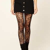 Semi-Sheer Floral Tights