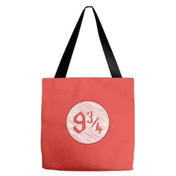 9 3 4 nine three quarters harry potter hogwarts Tote Bags