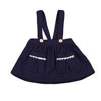 Girls Clothing Cute Baby Girls Dress Toddler Kids overalls Dresses Party Tutu Pageant Skirts
