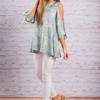 Pattern Makes Perfect Top, Teal