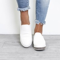 The Reason White Sneakers With Gold Studded Detail