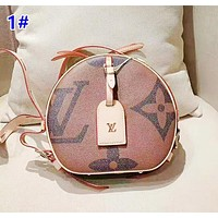 Louis Vuitton Classic Joker Casual Colorblock Soft Round Cake Bag Shoulder Messenger Bag 1#