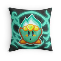 'Kirby Plasma' Throw Pillow by likelikes