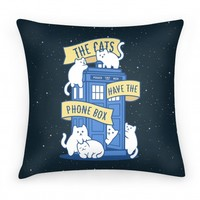 The Cats Have the Phone Box! | Pillows and Pillow Cases | HUMAN