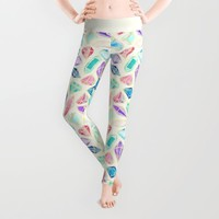 Watercolor Gems Intense Leggings by Tangerine-Tane | Society6