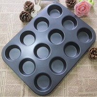 1PC New  Pan Muffin Cupcake Bake Cake Mould Bakeware 12 Cups Dishwasher Safe Versatile Sturdy Kitchen Tool Egg Tart Mold J0524