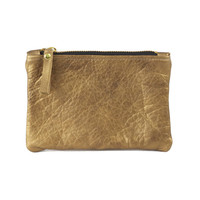 Metallic Leather Pouch