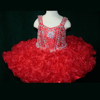 Tank Strap Beaded Little Rosie Baby Girls Pageant Dress BR1083