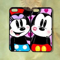 Mickey Mouse Couple Case-iPhone 5, 5s, 5c, 4s, 4, ipod touch 5 Samsung GS3, GS4 -Silicone Rubber or Hard Plastic Case, Phone cover