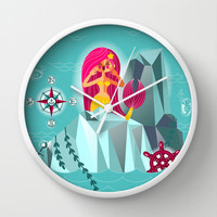 Mermaid's Call Wall Clock by chobopop