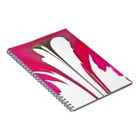 Chic amazing Red rose under the white sky.png Note Books