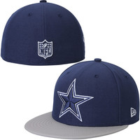 Dallas Cowboys New Era Side Filler 59FIFTY Fitted Hat - Navy Blue/Gray