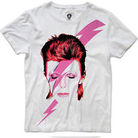 Official Men's White David Bowie T-Shirt by Amplified
