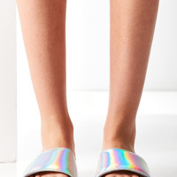 UO Holographic Pool Slide | Urban Outfitters