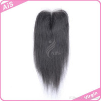 Grade 6A Lace Closure 4*4 Brazilian Hair Natural 1B Silky Straight Hair Weaves Top Closures Dyeable Hair Extensions
