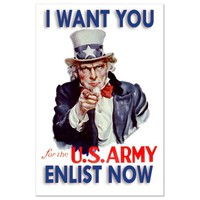 Collectible Restored Uncle Sam Wants You Post Card
