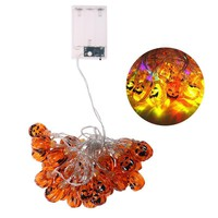30 LED Decorative Fairy String Lights Pumpkin Halloween Party Indoor Outdoor Light Lamp (Multi Colors)