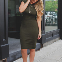 Great Lengths Dress - Olive