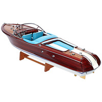 Riva Aquarama Boat with White and Turquoise Seating