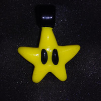 Glass MARIO STAR pendant necklace