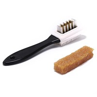 3-sides cleaning brush + rubber eraser for suede nubuck shoes boot cleaner