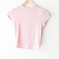 High Neck Crop Top - Pink