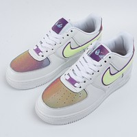 NIKE Air Force 1 couple style gradient low-top casual sneakers Shoes