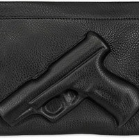 VLIEGER&VANDAM Guardian Angel Embossed Leather Clutch