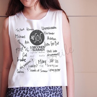 5 Second of Summer Shirt 5SOS shirt Premium cotton Crop tank, Tank Top, T-shirt, Long sleeve, unisex shirt, women tank