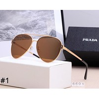 PRADA 2019 new personality fashion big frame polarized sunglasses #1