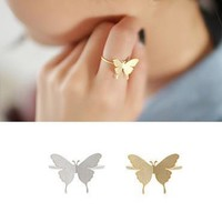 Shiny Stylish New Arrival Gift Jewelry Korean Matte Butterfly Ring [6586155271]