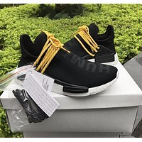 Pharrell Williams x Adidas PW HU Human Special NMD Pitch Black Boost Sport Running Shoes Classic Casual Shoes Sneakers