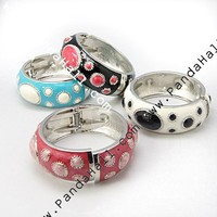 Wholesale Alloy Bangles, Mixed Color, 58mm