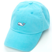 Vineyard Vines Whale Logo Baseball Hat- Aqua Blue